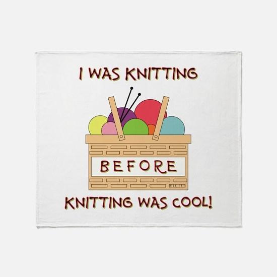 I WAS KNITTING... Throw Blanket