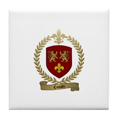 COUSIN Family Crest Tile Coaster