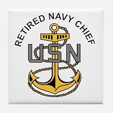 Cute Us navy retired Tile Coaster