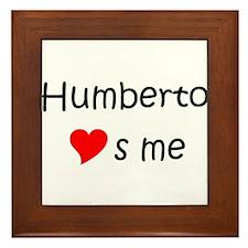 Funny Humberto Framed Tile