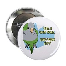 Can You Fly Quaker Parrot Button