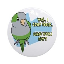 Can You Fly Quaker Parrot Ornament (Round)