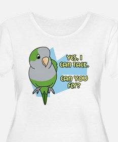 Can You Fly Quaker Parrot Women's Plus Scoop Tee