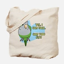 Can You Fly Quaker Parrot Tote Bag