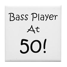 Bass Player At 50! Tile Coaster