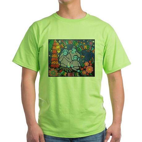No Evil Green T-Shirt