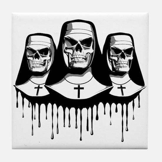 Evil Nuns Tile Coaster