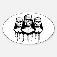 Evil Nuns Oval Decal