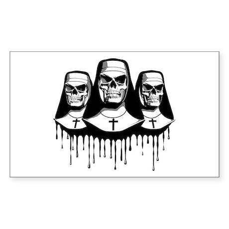Evil Nuns Rectangle Sticker