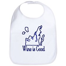 Wine is Good Bib