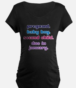 2nd BABY BOY DUE IN JANUARY T-Shirt