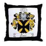 Bonci Family Crest Throw Pillow