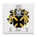 Bonci Family Crest Tile Coaster