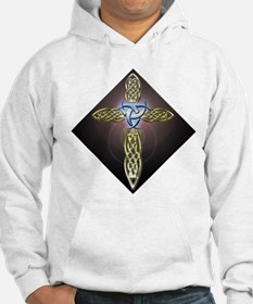 Triple Lunar Celtic Cross Hoodie