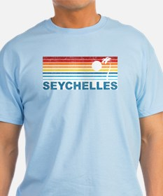 Retro Palm Tree Seychelles T-Shirt