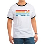 Retro Palm Tree Seychelles Ringer T