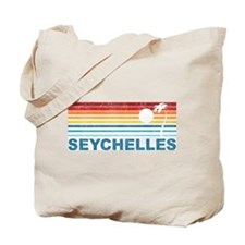 Retro Palm Tree Seychelles Tote Bag