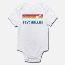 Retro Palm Tree Seychelles Infant Bodysuit