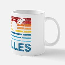 Retro Palm Tree Seychelles Mug