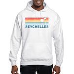 Retro Palm Tree Seychelles Hooded Sweatshirt