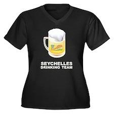 Seychelles Drinking Team Women's Plus Size V-Neck