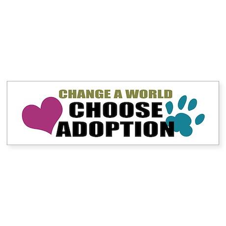 Choose Adoption Bumper Sticker