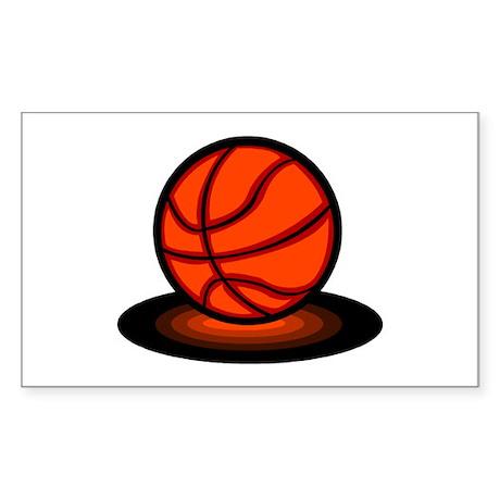 Basketball Rectangle Sticker