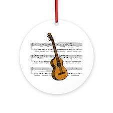 Music (Guitar) Ornament (Round)