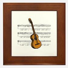 Music (Guitar) Framed Tile