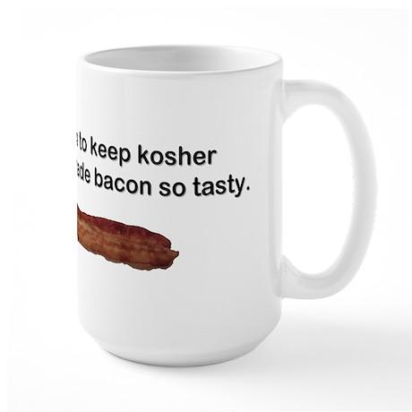 """""""Kosher - Tasty Bacon"""" Large Mug"""