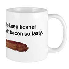 """Kosher - Tasty Bacon"" Small Mug"