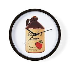 Dickens Cider Wall Clock