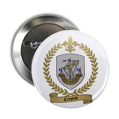 CREPEAU Family Crest Button