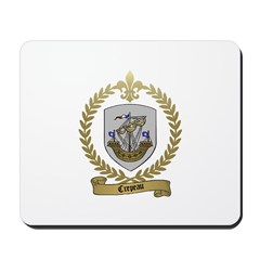 CREPEAU Family Crest Mousepad