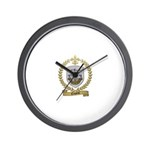 CREPEAU Family Crest Wall Clock