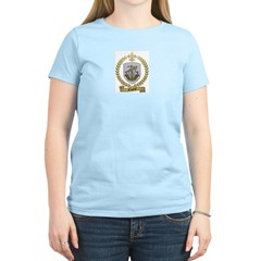 CREPEAU Family Crest Women's Pink T-Shirt