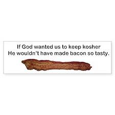 """Kosher - Tasty Bacon"" Bumper Bumper Sticker"