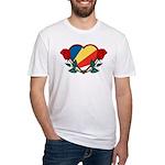 Heart Seychelles Fitted T-Shirt