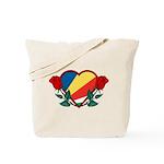 Heart Seychelles Tote Bag