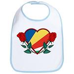Heart Seychelles Bib