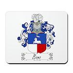Bono Family Crest Mousepad