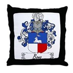 Bono Family Crest Throw Pillow