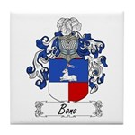 Bono Family Crest Tile Coaster