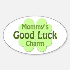 Mommy Good Luck Charm Oval Decal