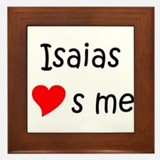 Funny Isaias Framed Tile