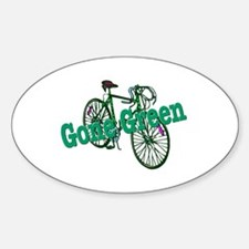 Gone Green Oval Decal