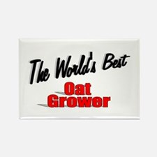 """The World's Best Oat Grower"" Rectangle Magnet"