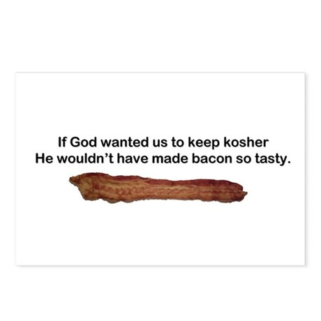 """""""Kosher - Tasty Bacon"""" Postcards (Package of 8)"""