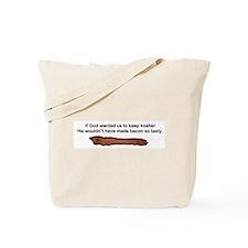 """""""Kosher - Tasty Bacon"""" Tote Bag"""