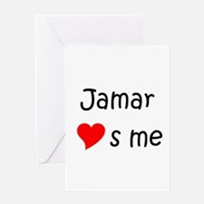 Unique Jamar name Greeting Card